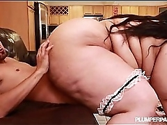 SSBBW Maid Anastasia Sucks..