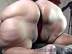 SSBBW showing her huge ass