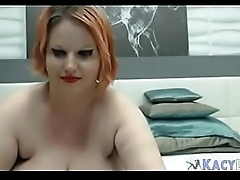 BBW Plays and Licks Her..